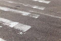 行人交叉路,特写镜头 图库摄影
