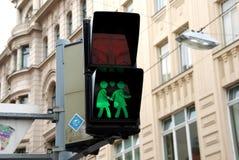 行人交通光在维也纳 免版税图库摄影