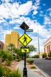 行人穿越道信号 库存图片