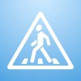 行人穿越道标志 库存例证