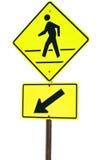 行人穿越道标志 库存图片