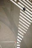 行人穿越道鸟瞰图 库存照片