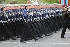行军海军级别战士 免版税库存图片