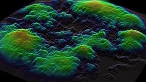 行动图表在形状改变的颜色上色了波浪增长 向量例证