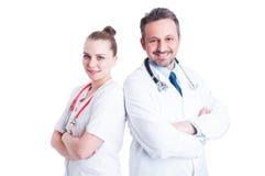行动愉快的军医或的医生确信和专业 库存图片
