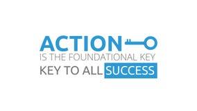 行动是基本原理的钥匙对所有成功 库存例证