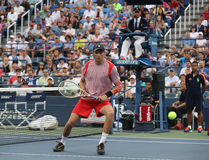 行动的全垒打冠军鲍勃・布赖恩在美国公开赛2016年四分之一决赛期间加倍比赛 库存图片
