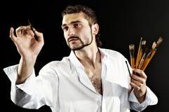 行动的创造性的艺术家 免版税库存照片
