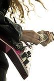 行动的吉他弹奏者 库存照片