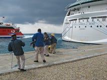 行动的巡洋舰工作者 图库摄影