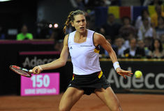 行动的德国网球员安德烈娅・佩特科维奇 图库摄影