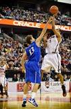 人的同边篮球决赛 免版税库存图片