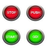 行动的按钮 库存例证