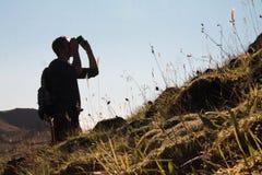 行动的摄影师 免版税库存照片
