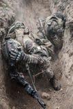 行动的法国伞兵 免版税库存照片