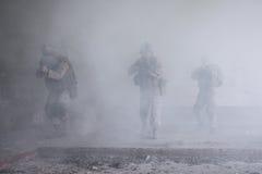 行动的美国海军陆战队员 免版税图库摄影