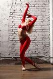 行动的芭蕾舞女演员 库存图片