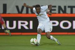 行动的足球运动员-萨达特Bukari 免版税库存图片