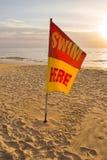 行动的青少年的仰泳游泳者 免版税图库摄影