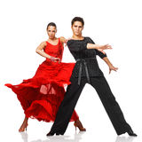 行动的高雅拉丁美州的舞蹈家 免版税库存照片