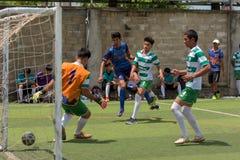 行动的, Kampot柬埔寨足球运动员 柬埔寨 免版税图库摄影