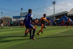 行动的, Kampot柬埔寨足球运动员 柬埔寨 免版税库存图片