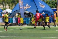 行动的, Kampot柬埔寨足球运动员 柬埔寨 免版税库存照片