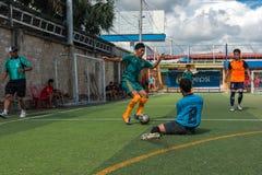 行动的, Kampot柬埔寨足球运动员 柬埔寨 库存照片