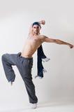 行动的年轻舞蹈家 库存照片