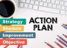 行动纲领企业概念 浏览生意人服务台办公室万维网白色 库存照片