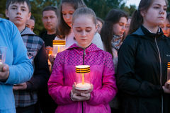 行动蜡烛记忆 库存图片
