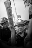行动西莱亚西矿工罢工的抗议  免版税库存图片