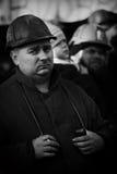 行动西莱亚西矿工罢工的抗议  图库摄影