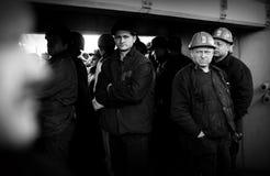 行动西莱亚西矿工罢工的抗议  库存图片