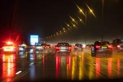 行动迷离英国公路交通和警察 免版税图库摄影