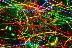 行动霓虹发光的灯光管制线 免版税库存照片
