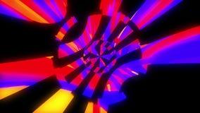 行动,3d的动态明亮的glich录影或作用在明亮的空间的回报计算机生成的背景 皇族释放例证