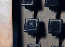 行型活字键盘信件一个关键特写镜头 图库摄影