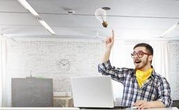 行家人用途膝上型计算机 混合画法 免版税库存图片