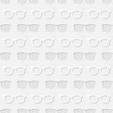 行家太阳镜无缝的样式 免版税库存图片
