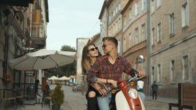 行家夫妇骑马摩托车 股票录像