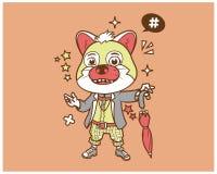 行家猫动画片T恤杉设计 皇族释放例证