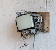行家电视在Dumbo顶楼 库存图片