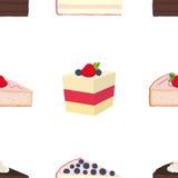 行家的样式结块,乳酪蛋糕,饼,在平的styl的酥皮点心 免版税库存照片