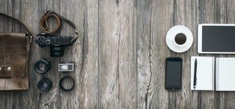 行家自由职业者的摄影师 免版税库存照片