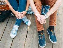 行家青年休闲时尚简单的生活方式 库存图片