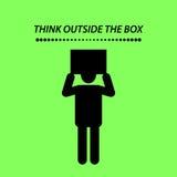 行情,在箱子之外认为 库存图片