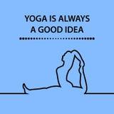 行情,瑜伽总是一个好想法 库存照片