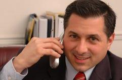 行政办公室电话采取 图库摄影