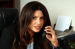 行政女性电话 库存图片